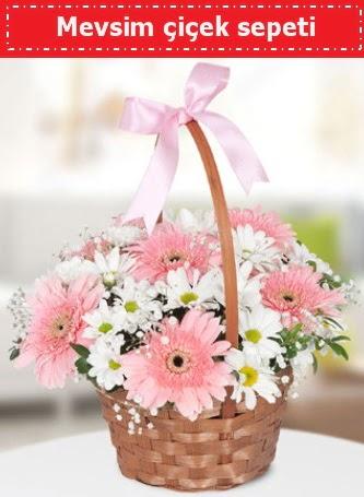 Mevsim kır çiçek sepeti  sincan çiçekçi Ankara Sincan internetten çiçek satışı