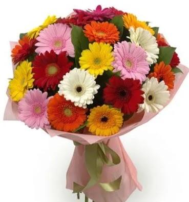 Karışık büyük boy gerbera çiçek buketi  Ankara Sincan çiçek siparişi sitesi