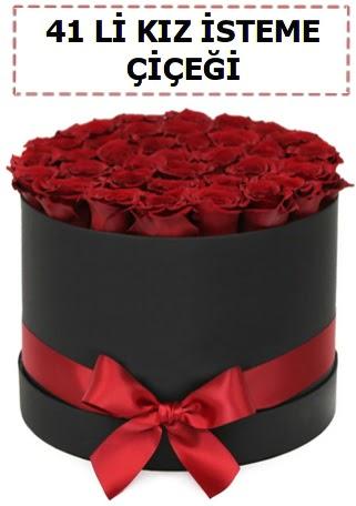 41 li kız isteme kutuda çiçek  Online Ankara Sincan çiçekçiler