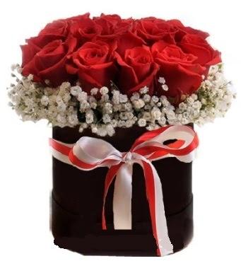 Siyah kutuda 23 adet kırmızı gül tanzimi  Ankara Sincan çiçek , çiçekçi , çiçekçilik