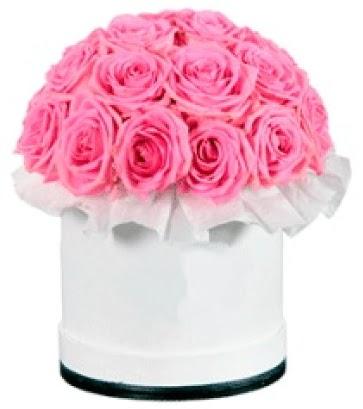 özel kutuda 20 adet pembe gül  Ankara Sincan çiçek , çiçekçi , çiçekçilik