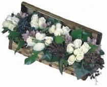 Ankara Sincan uluslararası çiçek gönderme  13 adet beyaz sandikta gül